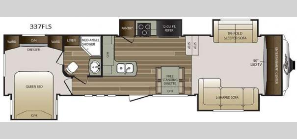 Cougar 337FLS Floorplan