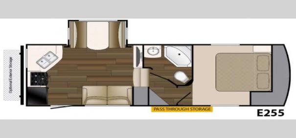 ElkRidge Xtreme Light E255 Floorplan