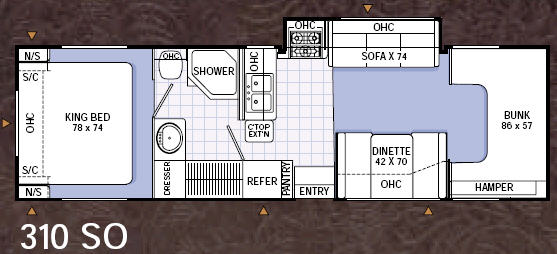 Maverick 310 SO Floorplan