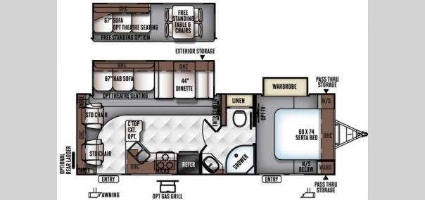 Rockwood Ultra Lite 2604WS Floorplan