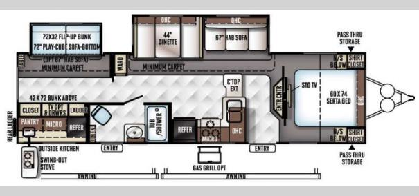 Rockwood Signature Ultra Lite 8312SS Floorplan