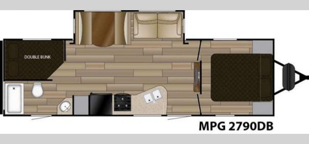 MPG 2790DB Floorplan