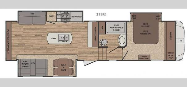 Sabre 315RE Floorplan