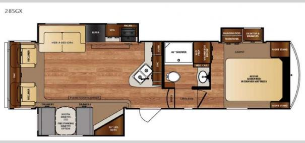 Wildcat 28SGX Floorplan