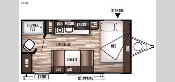 Wildwood X Lite FS 185RB Floorplan