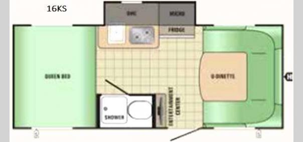 Comet Mini 16KS Floorplan