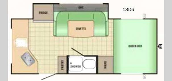 Comet Mini 18DS Floorplan