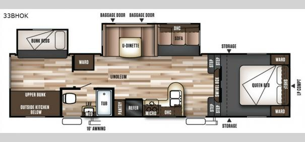 Wildwood 33BHOK Floorplan