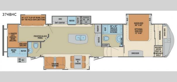 Columbus Compass 374BHC Floorplan