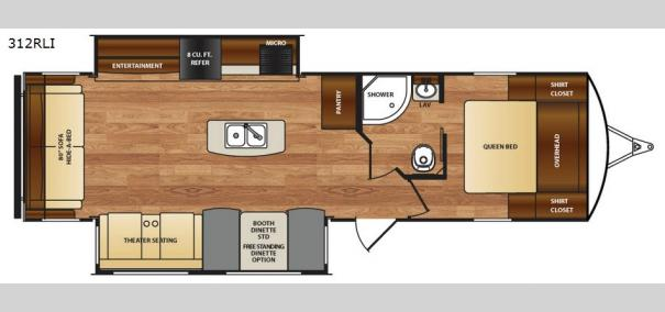 Wildcat 312RLI Floorplan