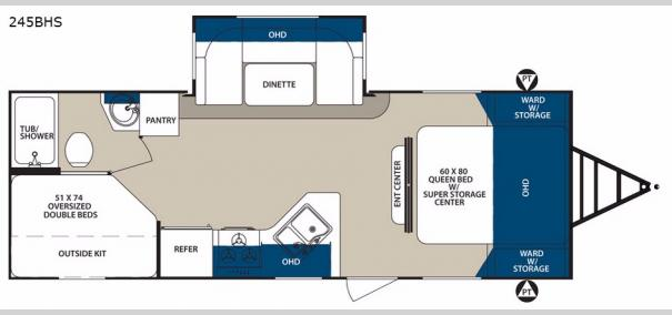 Surveyor 245BHS Floorplan