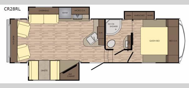 Cruiser Aire CR28RL Floorplan