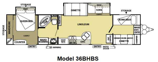 New 2013 Forest River Rv Salem 36bhbs Travel Trailer At