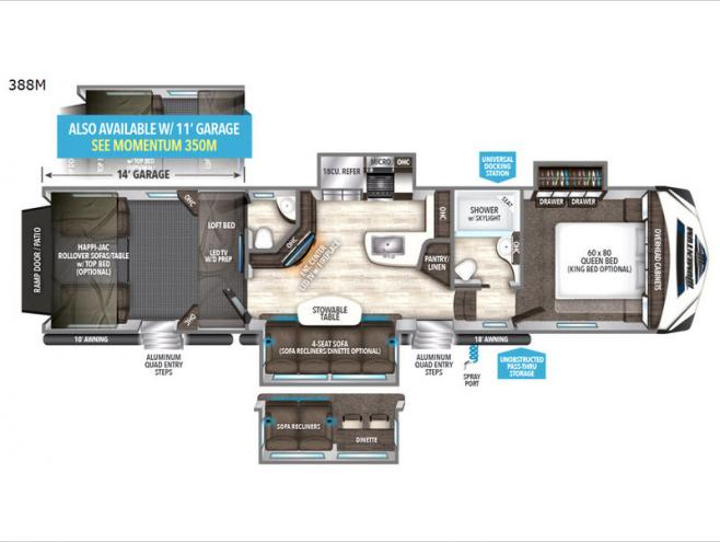 Floorplan - 2017 Grand Design Momentum M-Class 388M