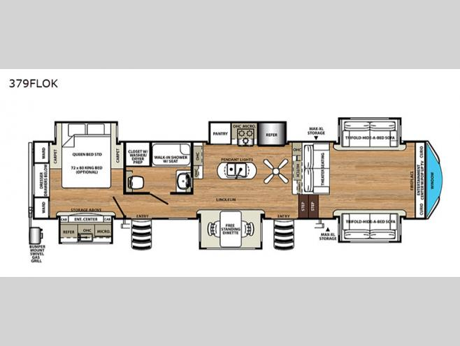 New 2020 Forest River Rv Sandpiper 379flok Fifth Wheel At