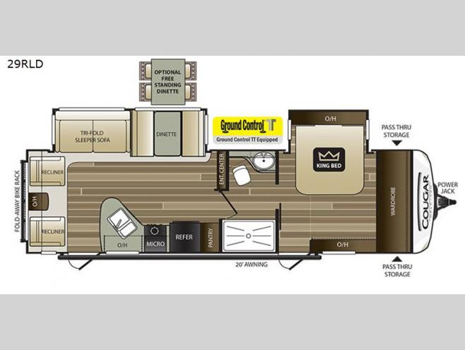 New 2019 Keystone RV Cougar Half-Ton Series 29RLD Travel Trailer Keystone Trailer Wiring Diagram on trailer connector diagram, trailer parts, push button starter installation diagram, trailer battery diagram, trailer hitches diagram, trailer batteries diagram, circuit diagram, trailer motor diagram, trailer brakes, trailer tires diagram, trailer schematic, trailer frame diagram, truck cap locks diagram, trailer lights, cable harness diagram,