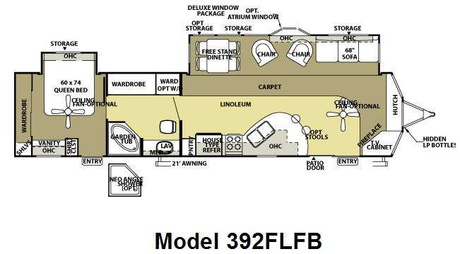 Used 2008 Forest River Rv Wildwood Lodge 392flfb