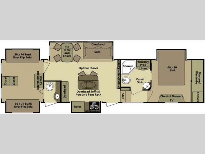 Open Range 5th Wheel Bunkhouse Floor Plans Carpet Vidalondon