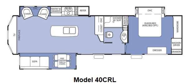 Superb Used 2012 Forest River Rv Cedar Creek Cottage 40Crl Download Free Architecture Designs Salvmadebymaigaardcom