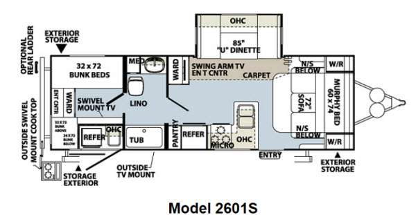 Used 2013 Forest River Rv Rockwood Ultra Lite 2601s Travel