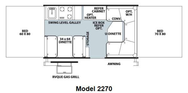 Used 2013 Forest River RV Rockwood Freedom Series 2270 Folding Pop ...