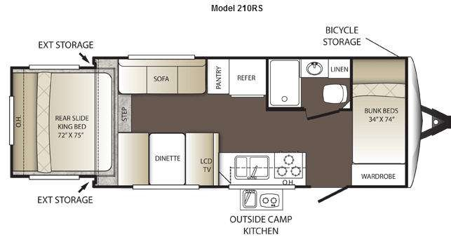 used 2014 keystone rv outback 210rs travel trailer at paul evert's