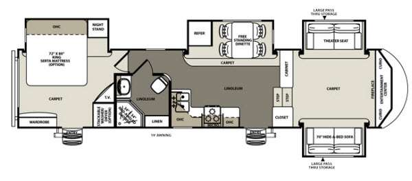 New 2015 Forest River RV Sandpiper 366FL Fifth Wheel At Castle