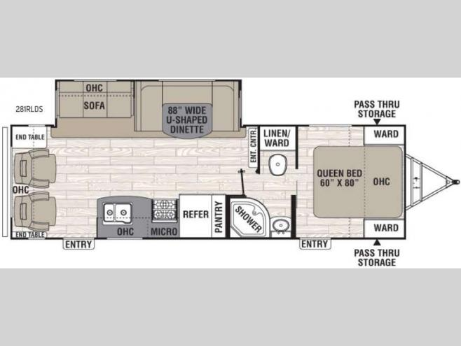 Floorplan   2016 Coachmen RV Freedom Express Liberty Edition 281RLDS