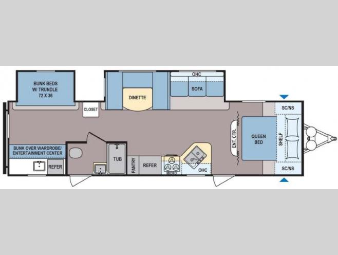 new dutchmen rv coleman lantern series bh travel trailer floorplan 2017 dutchmen rv coleman lantern series 314bh