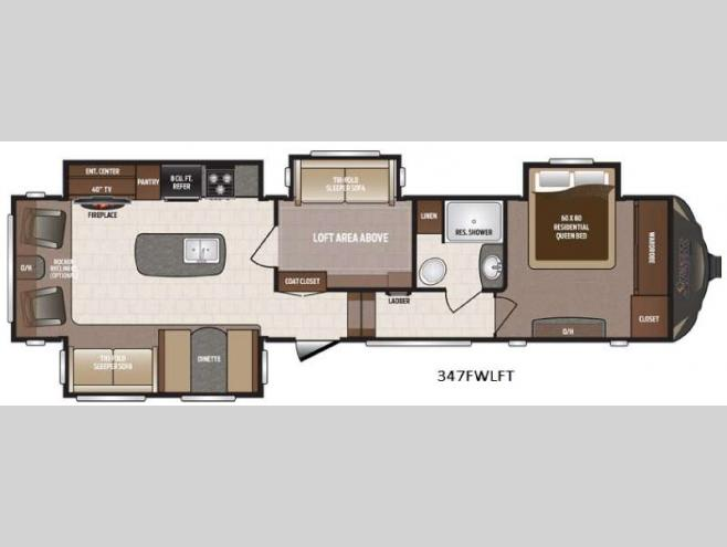New 2017 Keystone RV Sprinter 347FWLFT Fifth Wheel At Shaw