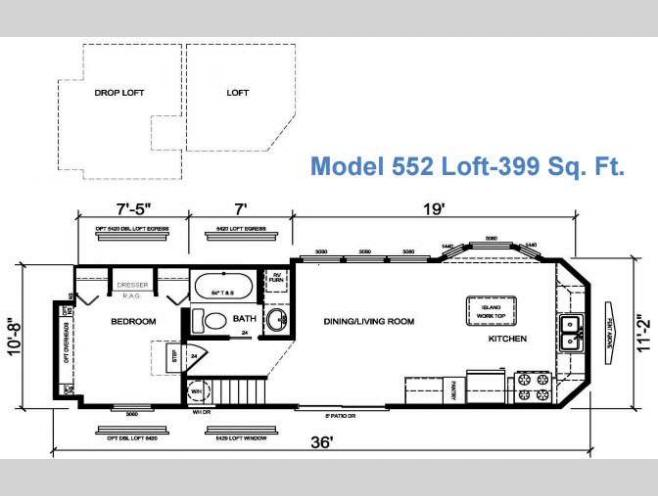 New 2017 Athens Park Homes Athens Park Series 552 Loft