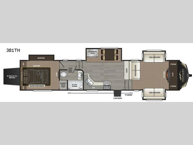 New 2017 keystone rv montana high country 381th toy hauler - Toy haulers with front living room ...