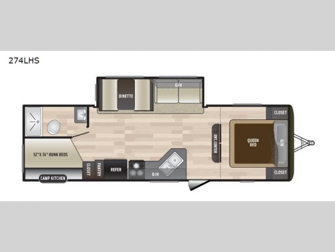 New 2019 Keystone Rv Hideout 274lhs Travel Trailer At