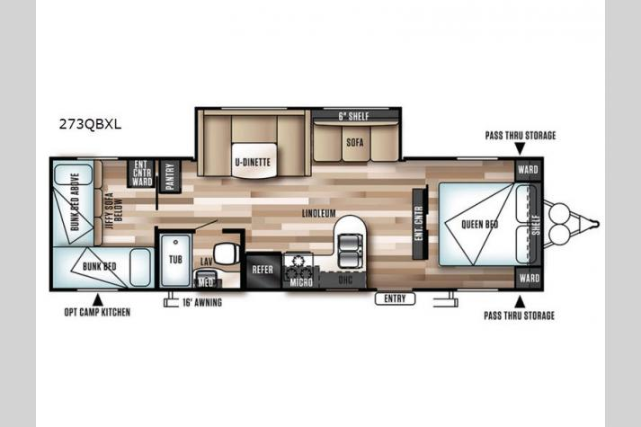 Floorplan - 2017 Forest River RV Wildwood X-Lite 273QBXL
