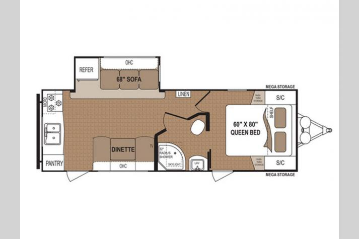Floorplan - 2017 Dutchmen RV Aspen Trail 2390RKS