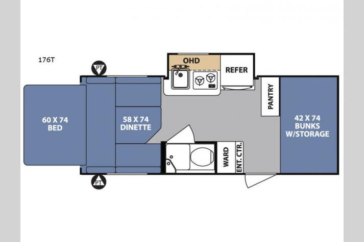 Floorplan - 2017 Forest River RV R Pod RP-176T