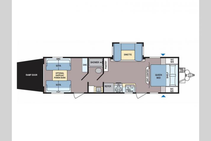 Floorplan - 2017 Dutchmen RV Coleman Lantern Series 300TQ