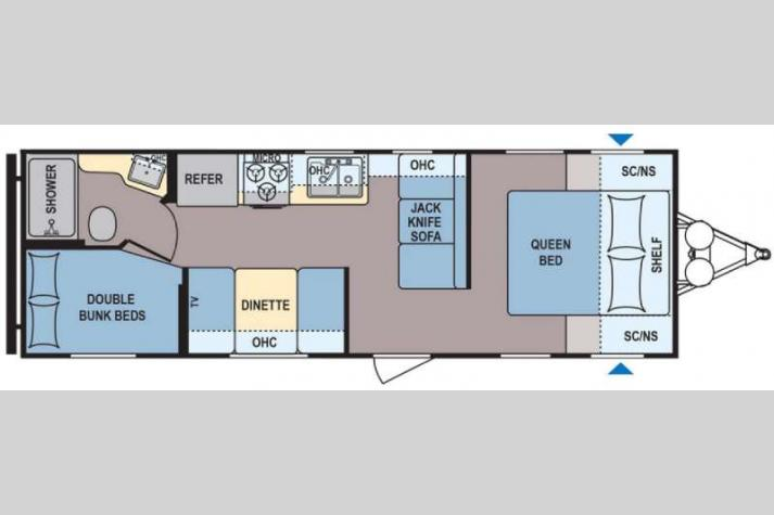 Floorplan - 2017 Dutchmen RV Coleman Lantern Series 274BH