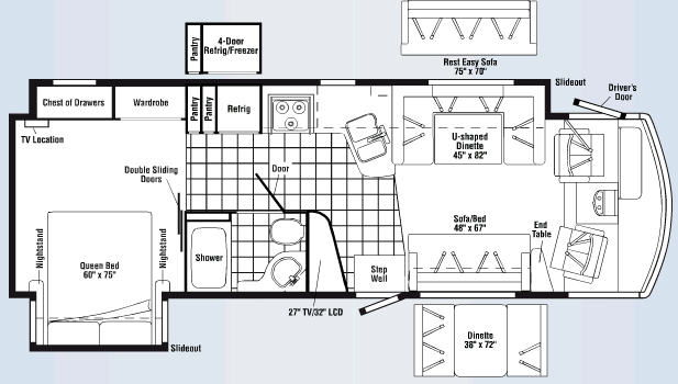 Floorplan - 2008 Itasca Sunrise 32H