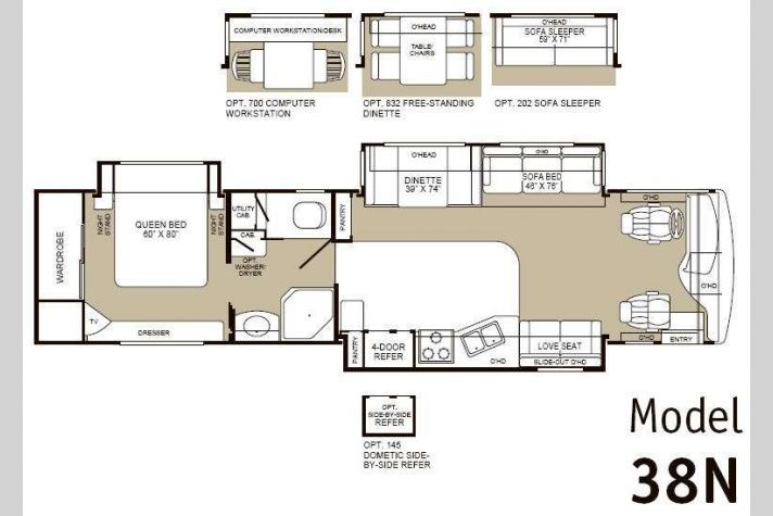 Floorplan - 2003 Fleetwood RV Bounder Diesel 38N
