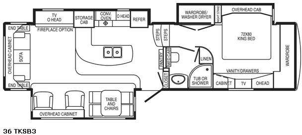 Floorplan - 2008 DRV Luxury Suites Mobile Suites 36 TKSB3