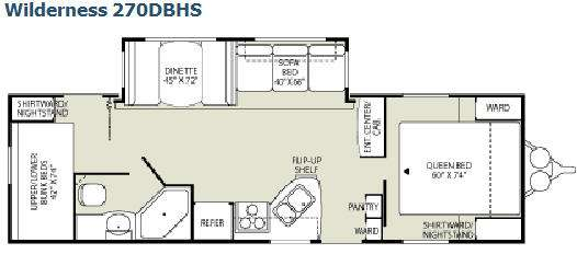 Floorplan - 2008 Fleetwood RV Wilderness 270DBHS