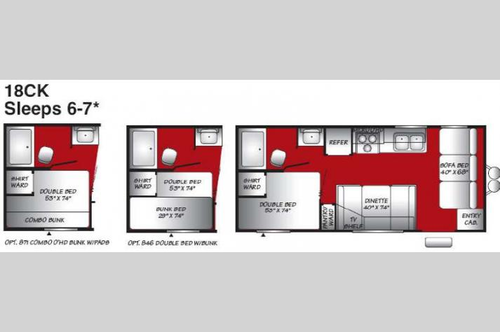 Floorplan - 2007 Fleetwood RV Pioneer Spirit 18CK