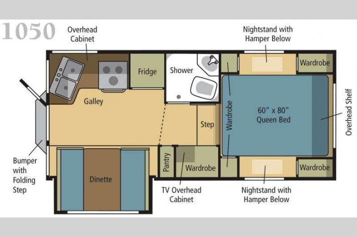 Floorplan - 2010 Eagle Cap Campers Eagle Cap 1050