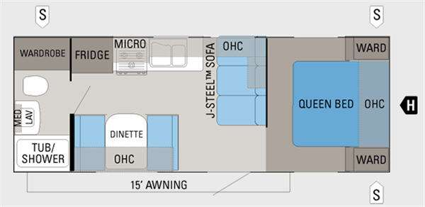 Floorplan - 2011 Jayco Jay Flight G2 23FB