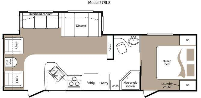 Floorplan - 2011 Keystone RV Cougar 27RLS