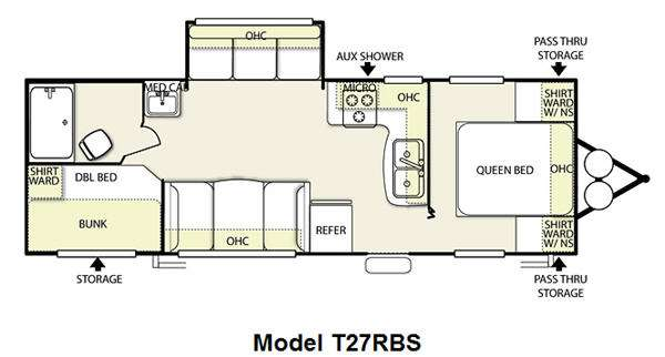 Floorplan - 2012 Forest River RV Salem 27RBS