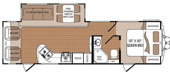 Floorplan - 2012 Dutchmen RV Komfort 2720RL