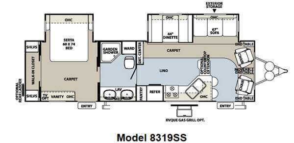 Floorplan - 2012 Forest River RV Rockwood Signature Ultra Lite 8319SS