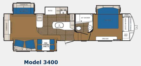 Floorplan - 2012 Prime Time Manufacturing Sanibel 3400